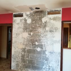 AVANT déco pierre d'un mur intérieur