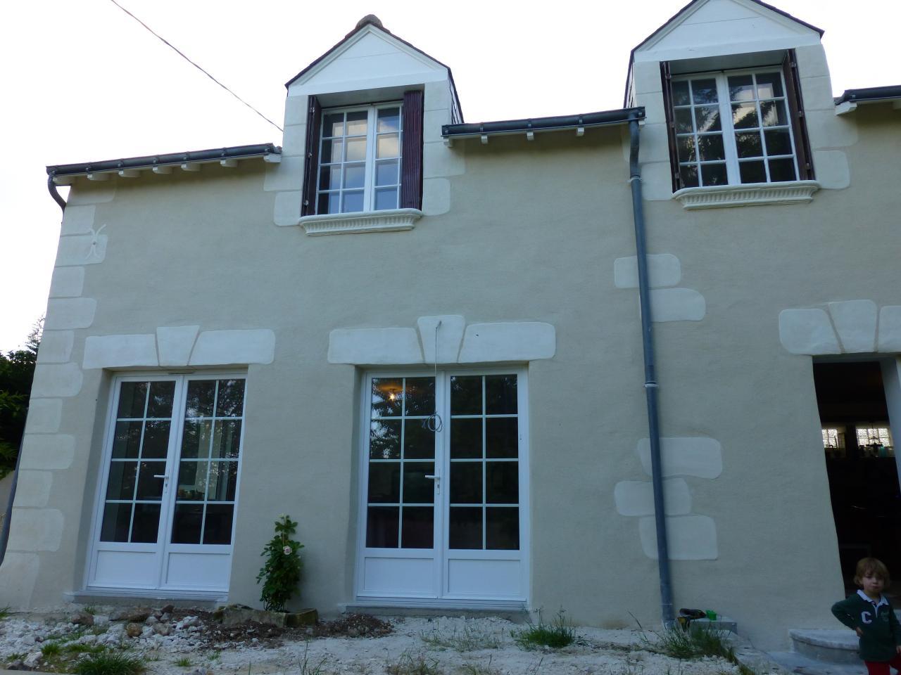 Enduit chaux et sables Vernou, Loire rénovation