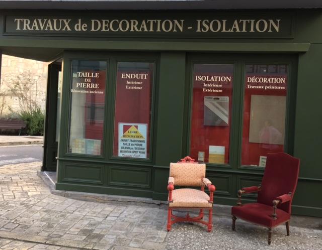 Rénovation d'une vitrine à Beaulieu les Loches