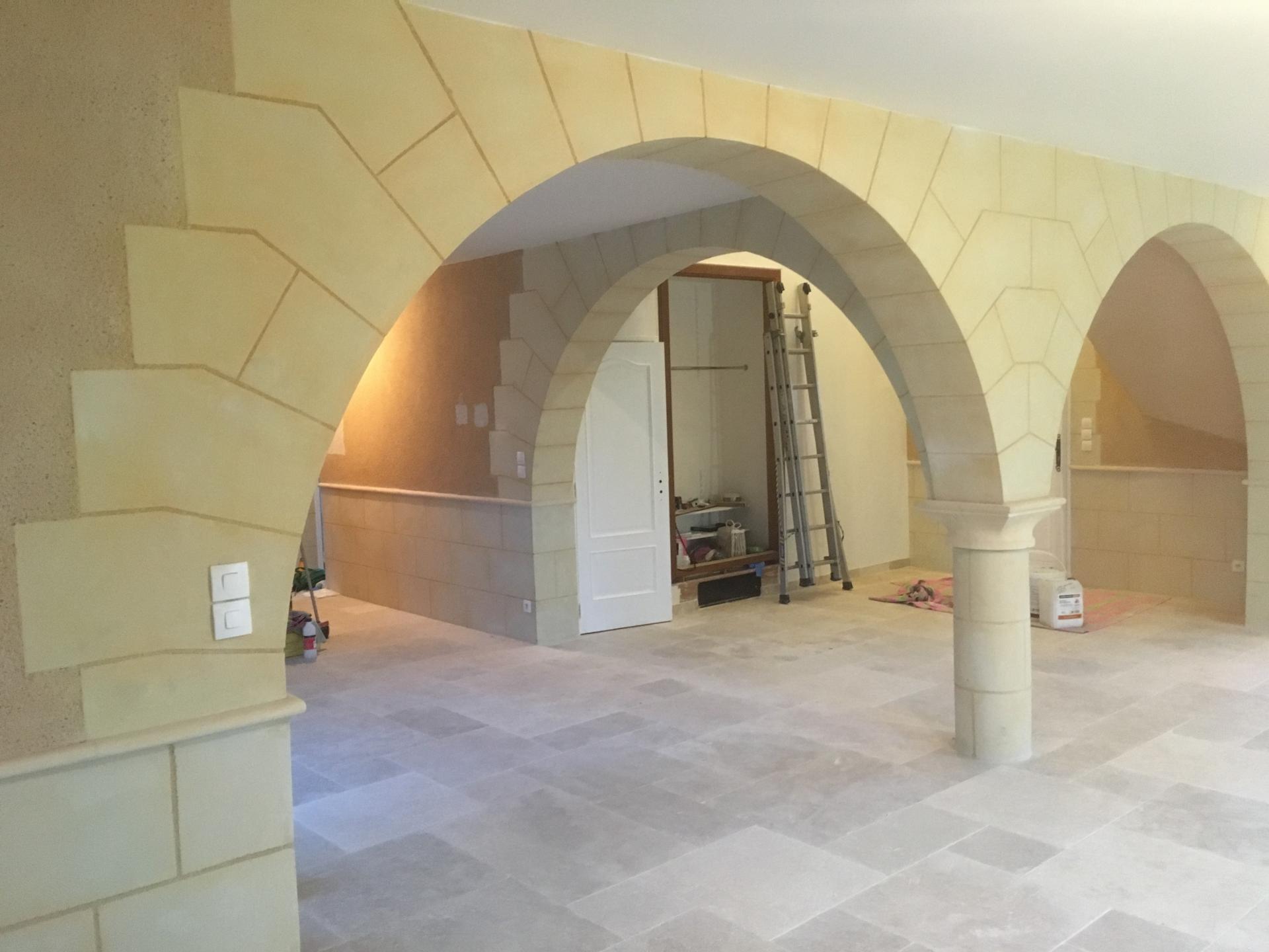 Décoration aspect pierre intérieure